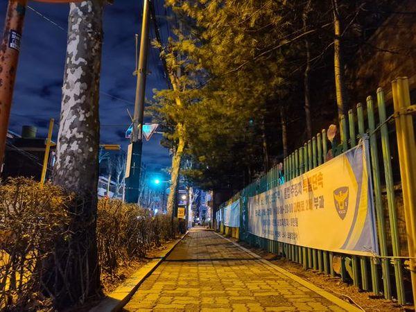 삼성전자 스마트폰 '갤럭시S20 울트라'로 야간에 촬영한 사진.ⓒ데일리안 김은경 기자