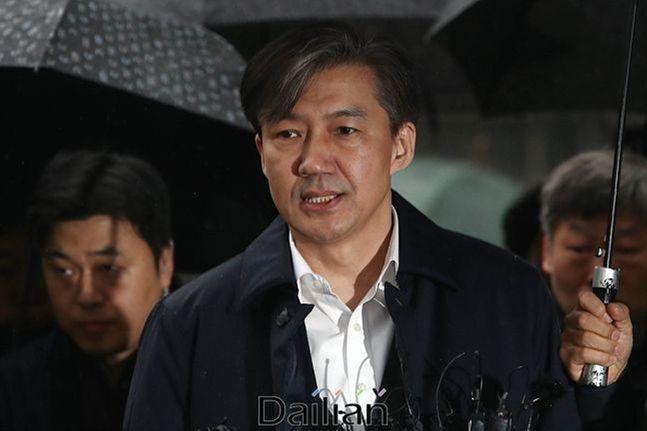 지난해 12월 26일 구속영장실질심사를 위해 법원에 출석하던 조국 전 법무부 장관 ⓒ데일리안 홍금표 기자