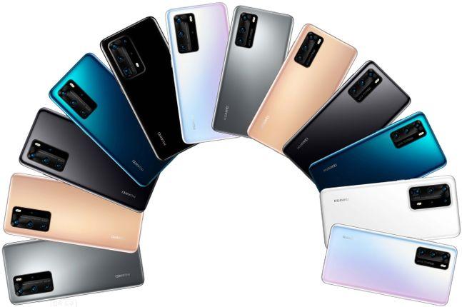 화웨이 플래그십 스마트폰 'P40' 예상 이미지. 폰아레나 홈페이지 캡처