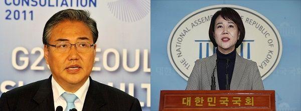 서울 강남을 지역 출마를 준비 중인 박진 미래통합당 후보와 전현희 더불어민주당 후보 ⓒ뉴시스