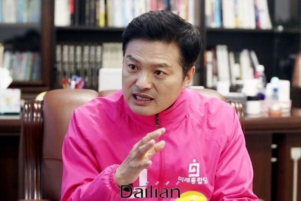 서울 강서을에 출마한 미래통합당 김태우 후보 ⓒ데일리안 홍금표 기자