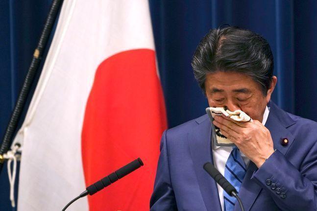 일본 아베 총리. ⓒ 뉴시스