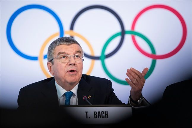 IOC 토마스 바흐 위원장. ⓒ 뉴시스