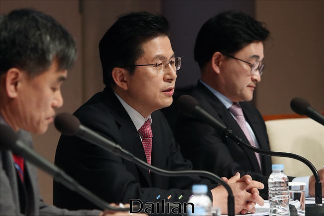 황교안 미래통합당 대표가 25일 오전 서울 중구 프레스센터에서 열린 관훈토론회에서 모두발언을 하고 있다. ⓒ데일리안 홍금표 기자