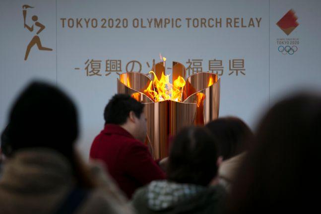 일본은 성화 봉송의 출발지인 후쿠시마가 안전하다고 홍보 중이다. ⓒ 뉴시스