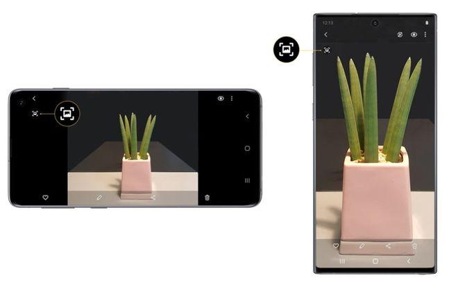 삼성전자 스마트폰 카메라 '퀵 크롭' 기능.ⓒ삼성전자