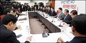 한국당 헌법개정·정치개혁·사법개혁 특위 회의