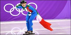 [평창2018]기뻐하는 올림픽 챔피언 아리아나 폰타나