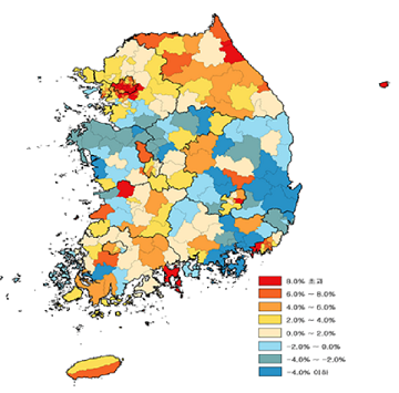 [2018공동주택공시가] 울산, 충남‧북, 경남‧북 하락…지방서 세종만 평균보다 높아