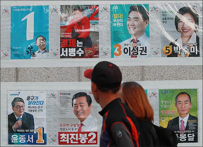 [데일리안 여론조사] 순수 보수·진보 동반 상승…선거前 결집
