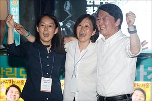 [지방선거] 안철수 '마지막 날 유세는 가족과 함께'