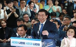 [데일리안 여론조사] 차기 정치지도자 적합도 1위 박원순, 이재명 추락