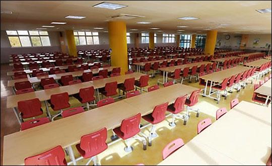 각 학교에 급식실 환기시설 청소 용역 경비 지원