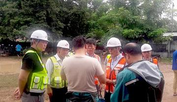 SK건설 안재현 사장, 댐 사고 현장 방문…지원단 40여명 추가파견