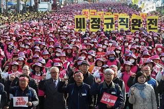 '촛불권력' 민노총의 불법과 폭력, 일벌백계(一罰百戒)로 엄단하라
