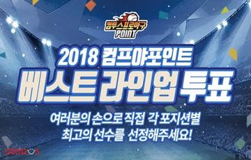 컴투스, '2018 프로야구 포인트' 베스트라인업 투표 실시
