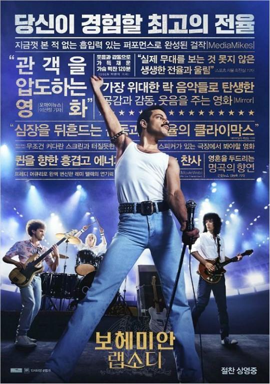 '보헤미안 랩소디, 700만 돌파…올해 흥행 3위