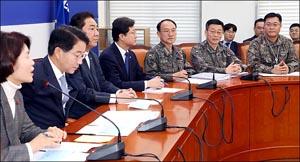 일본 초계기 위협비행 보고받는 민주당