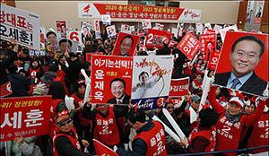 뜨거운 부산 합동연설회 열기...'PK 표심의 방향은?'