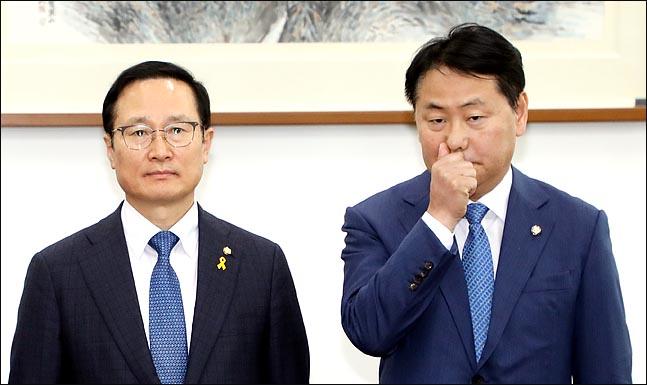 바른미래 사분오열에도 '태연한' 홍영표