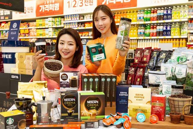 """홈플러스 """"늘어난 홈카페족, 대형마트 커피 상품 수까지 늘렸다"""""""