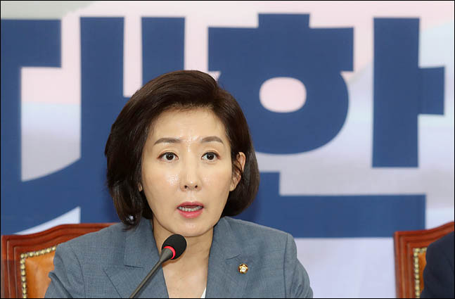 """나경원 """"지소미아 파기, 조국 정국과 무관치 않은 듯"""""""