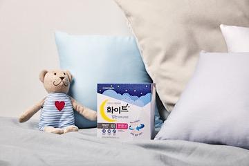 유한킴벌리, '화이트 입는 오버나이트' 통기성 강화 제품 출시
