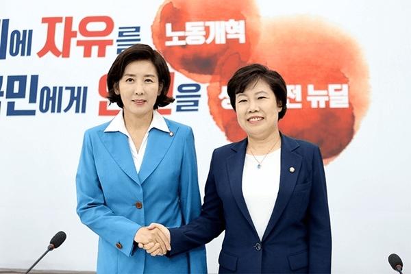 '서울대·판사·4선' 나경원·조배숙, 조국 논란에 새 교집합 찾나