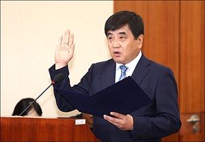 인사청문회 선서하는 한상혁 후보자