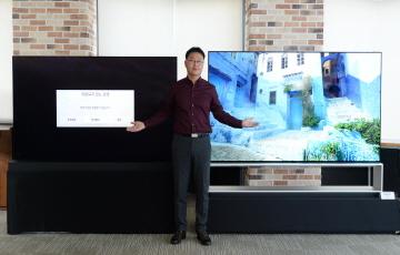 LG의 반격...8K TV 전쟁, 화질서 '재생'으로 논점 확대