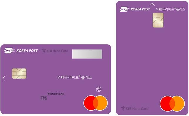 하나카드, 우정사업본부와 '우체국라이프+ 플러스 카드' 출시