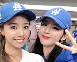 """[SNS샷] 박기량, LA서 배지현 만나 찰칵 """"형부 파이팅"""""""