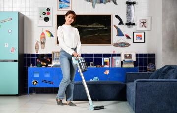 삼성전자, 민트색 입은 무선 청소기 '제트' 출시