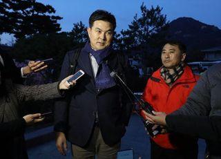 <포토> 황교안 방문 마친 김태호