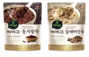 CJ제일제당, 겨울철 신메뉴 비비고 '동지팥죽·들깨버섯죽' 출시