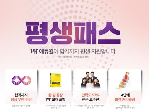 """에듀윌 사회복지사 1급 '평생패스', """"합격할 때까지 무제한 수강 가능"""""""
