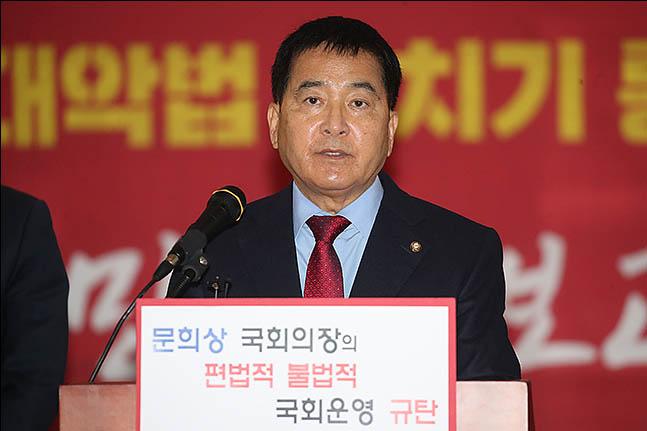 """심재철 """"선거법 통과되면 즉각 헌재에 헌법소원 낼 것"""""""