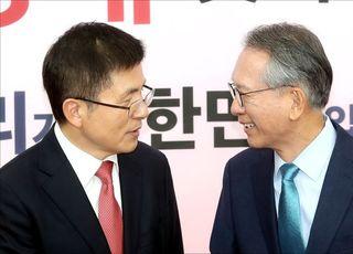 <포토>얼굴 맞댄 황교안 대표와 김형오 공관위원장