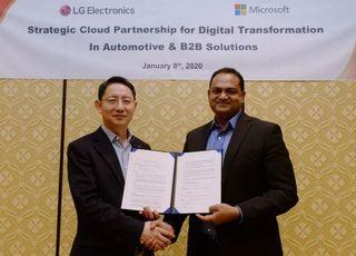 [CES 2020] LG전자, 마이크로소프트와 B2B사업 협력 강화