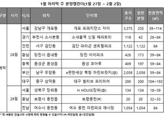 [주간분양] 내달 청약홈 이행 앞두고 분양시장 '휴업'...계약 10곳만 진행