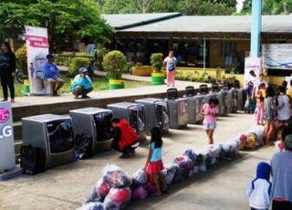LG전자, 필리핀 화산폭발 이재민 위한 봉사활동 펼쳐