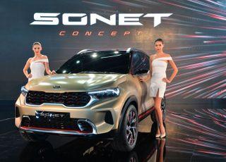 기아차, 델리모터쇼서 '인도형 카니발' 론칭…소형 SUV '쏘넷 콘셉트' 공개