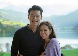 '사랑불' 현빈 손예진, 스위스 투샷…'실제 연인 같아'
