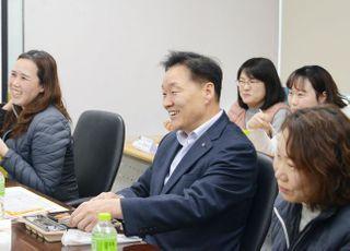 '서민금융 1397' 상담 55% 급증…이계문 원장 콜센터 현장 방문