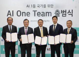 """<포토> 구현모 KT 사장, 산·학·연 AI 원팀 결성…""""AI 1등 국가 도약"""""""