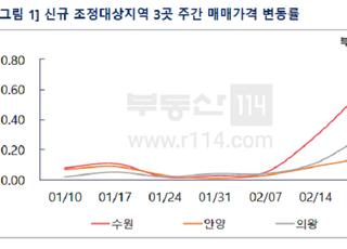 [주간부동산시황] 수원, 2007년 이후 최대 상승…강남3구 일제히 하락