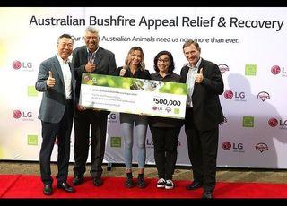 LG전자, 호주 산불 피해 돕는다…동물구호단체에 50만 호주달러 전달