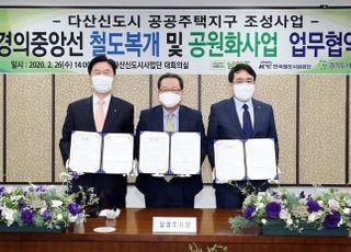 철도공단, 경의중앙선 철도복개‧공원화 조성 사업 추진