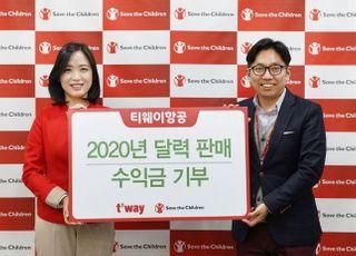 [코로나19]티웨이항공, 달력 판매 수익금 피해 지원 기부