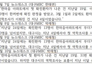 """[미디어 브리핑] MBC노동조합 """"야당 시장 때리기보다 대구 시민 안전이 더 중요하다"""""""